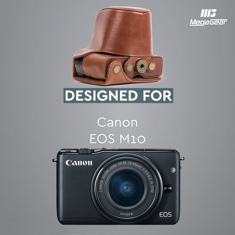 MegaGear Canon EOS M10 Ever Ready Genuine Leather Camera