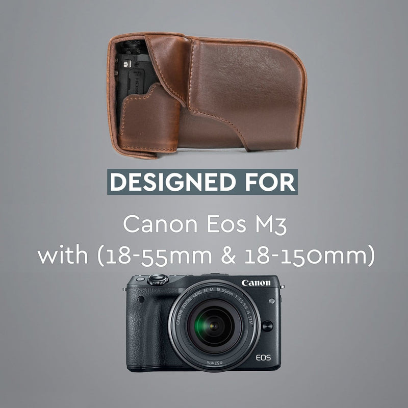 MegaGear Canon EOS M3 (18-55mm) Ever Ready Leather Camera