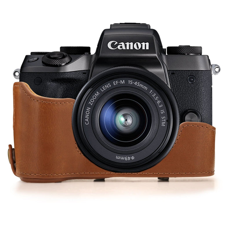 MegaGear Canon EOS M5 (15-45mm) Ever Ready Leather Camera