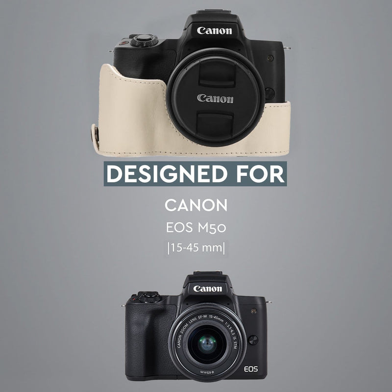 MegaGear Canon EOS M50 (15-45mm) Ever Ready Leather Camera