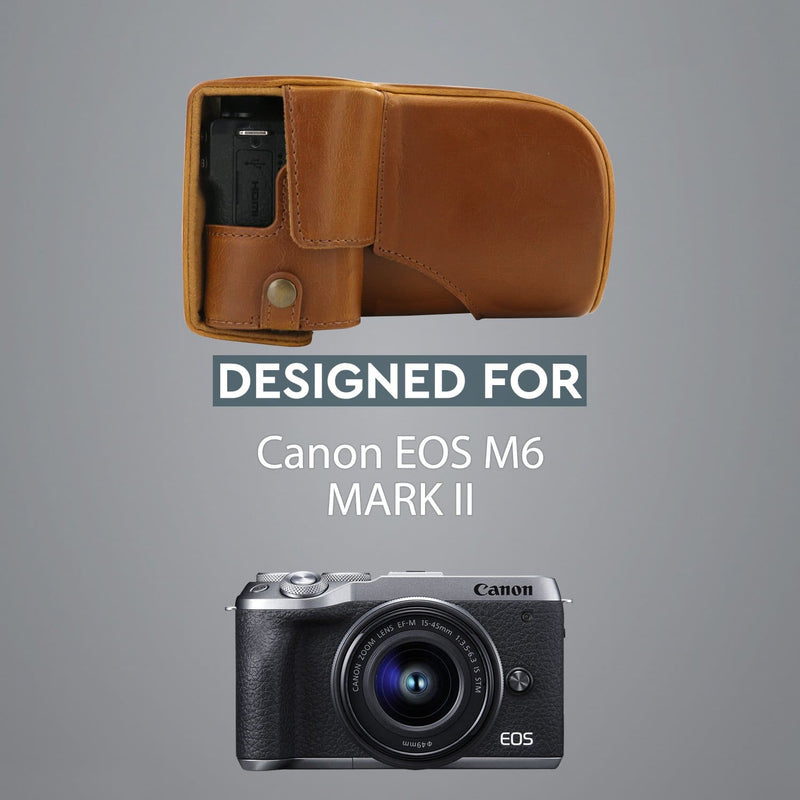 MegaGear Canon EOS M6 Mark II (18-150mm) Ever Ready Leather