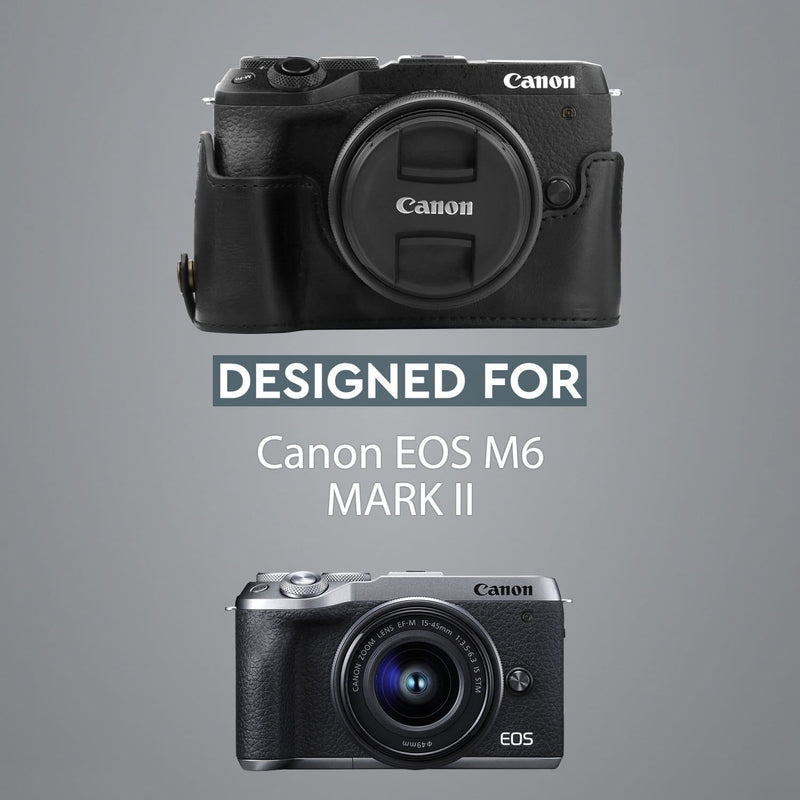 MegaGear Canon EOS M6 Mark II Ever Ready Leather Camera Half
