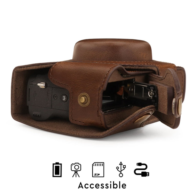 MegaGear Canon PowerShot G5 X Mark II Ever Ready Leather