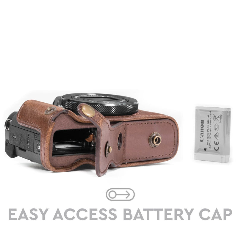 MegaGear Canon PowerShot G5 X Ever Ready Leather Camera Case
