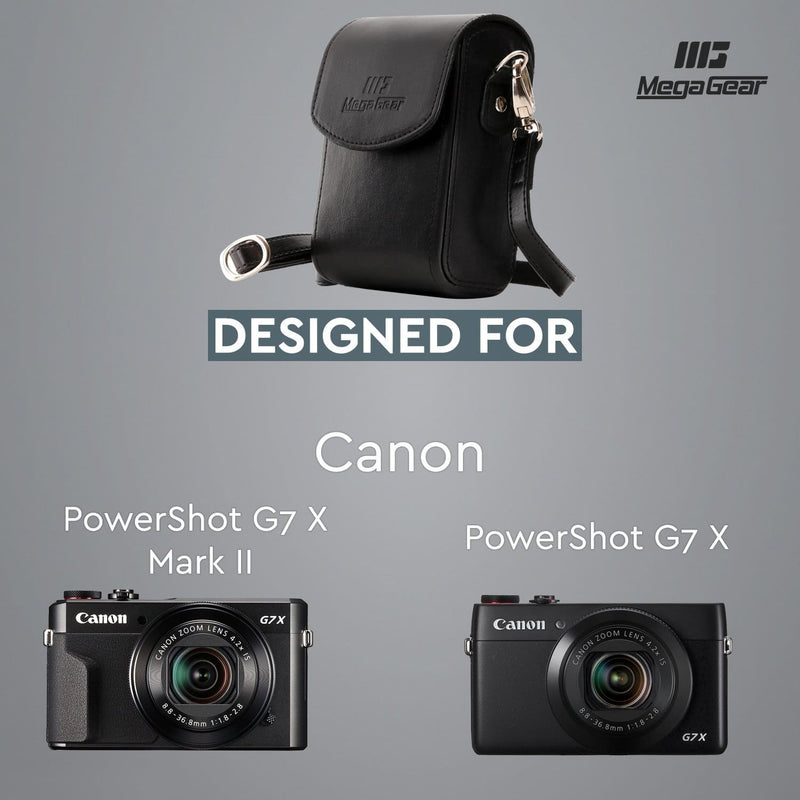 MegaGear Canon PowerShot G7 X Mark III II Leather Camera