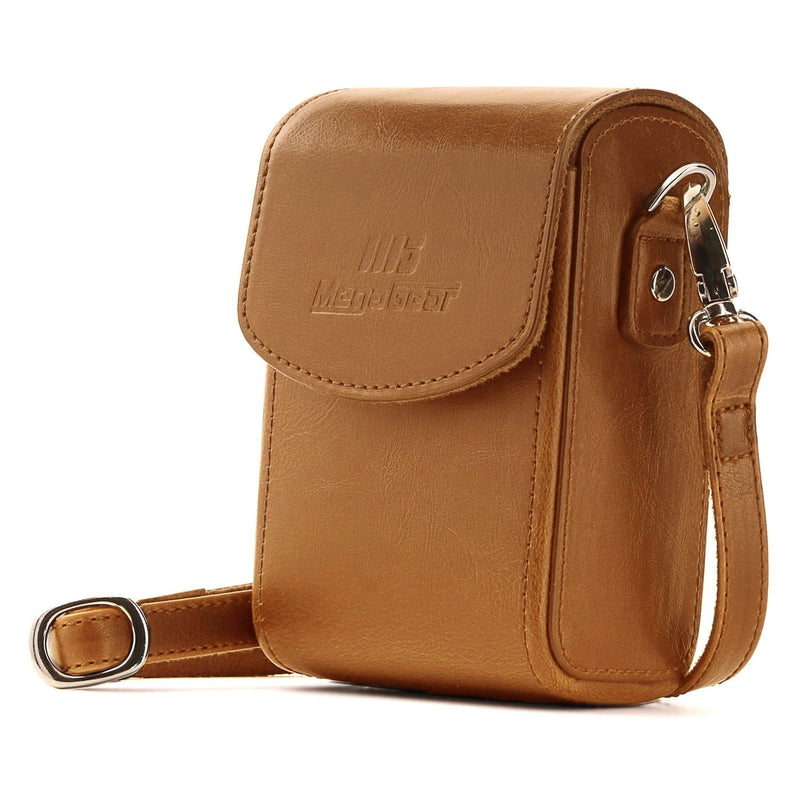 MegaGear Leather Camera Case with Strap compatible with anon PowerShot G7 X Mark III G7 X G7 X Mark II