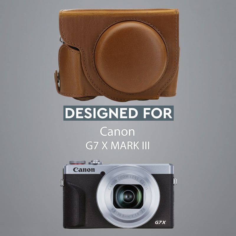MegaGear Canon PowerShot G7 X Mark III Ever Ready Leather