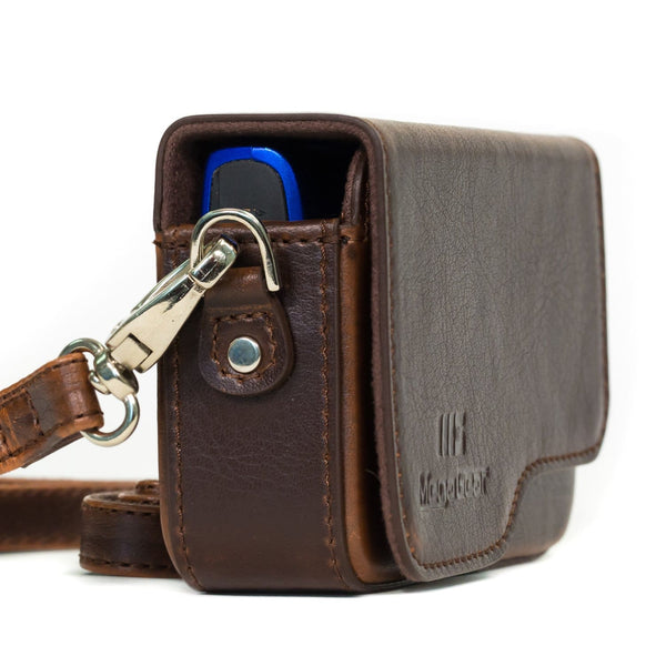 Gadget Place Dark Brown Classy Leather Wrist Strap for Canon PowerShot S200 N100 S120 S110 A810 A1300 A2300 A2400 IS A3400 IS A4000 IS