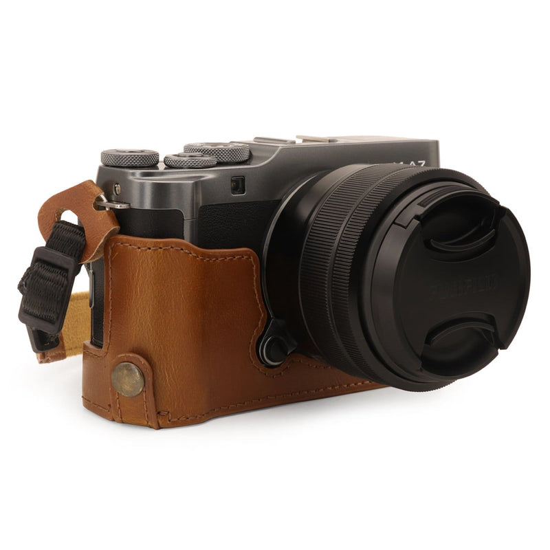 MegaGear Fujifilm X-A7 Ever Ready Leather Camera Half Case -