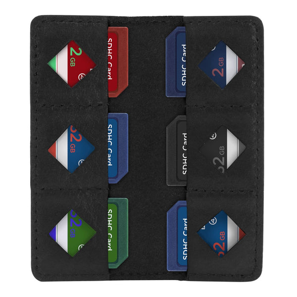 MegaGear Leather SD Card Holder - Black