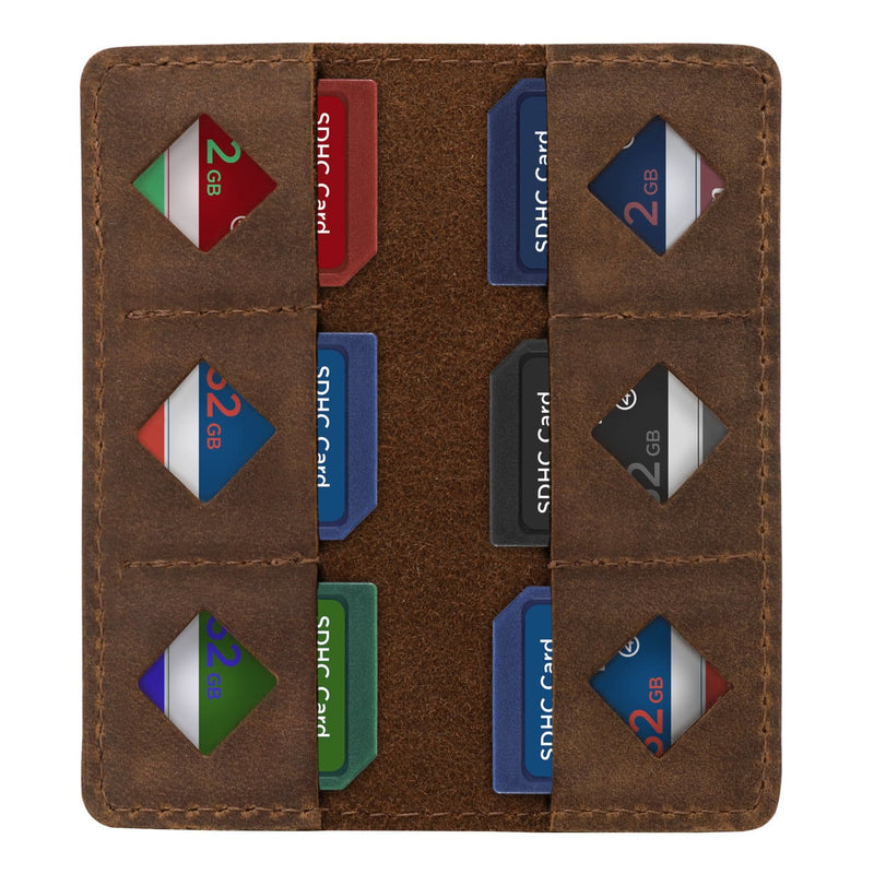 MegaGear Leather SD Card Holder