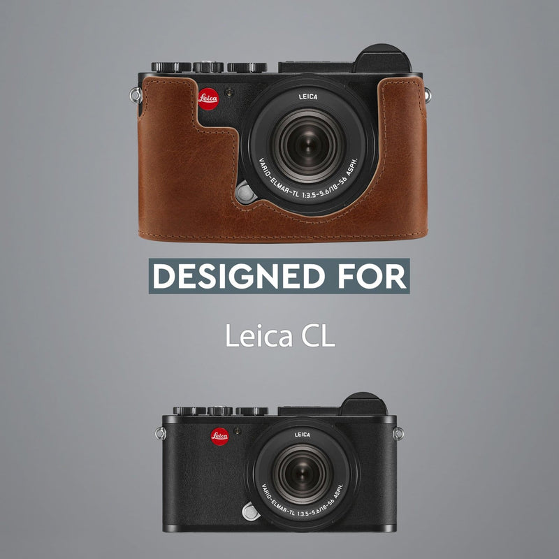 MegaGear Leica CL Ever Ready Genuine Leather Camera Half