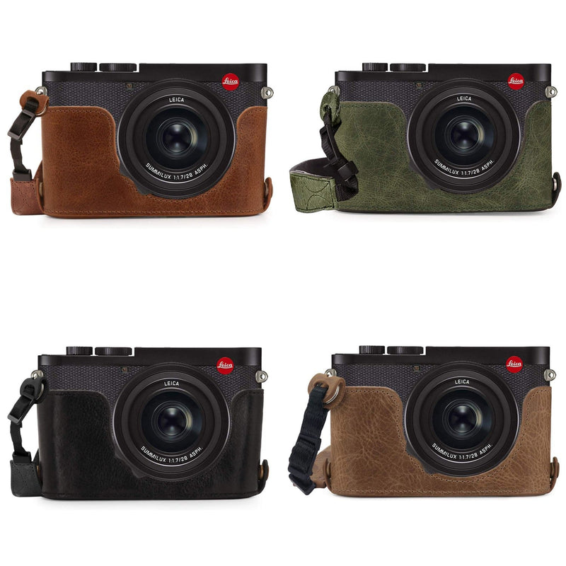 MegaGear Leica Q2 Ever Ready Genuine Leather Camera Half