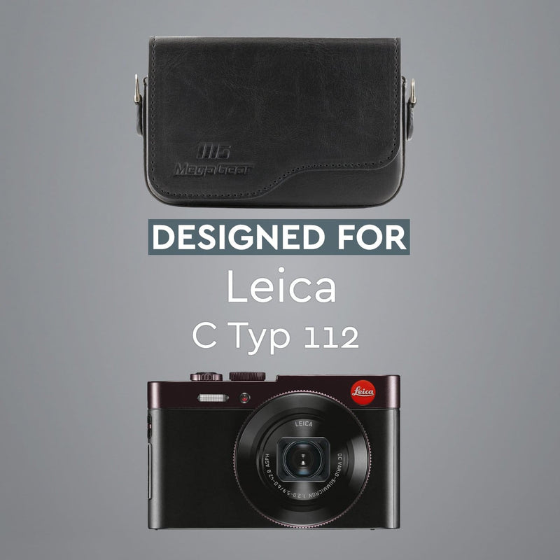 MegaGear Leica C Typ 112 Leather Camera Case with Strap
