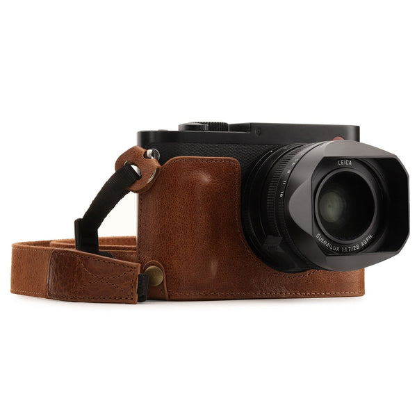 MegaGear Leica Q-P Q (Typ 116) Genuine Leather Camera Half