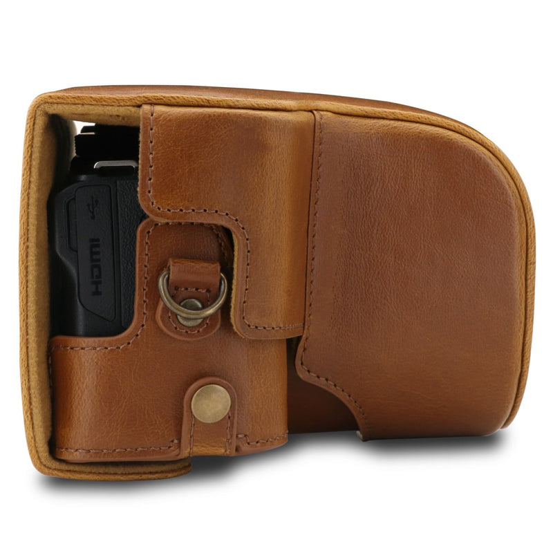 MegaGear Nikon Coolpix B600 Ever Ready Leather Camera Case