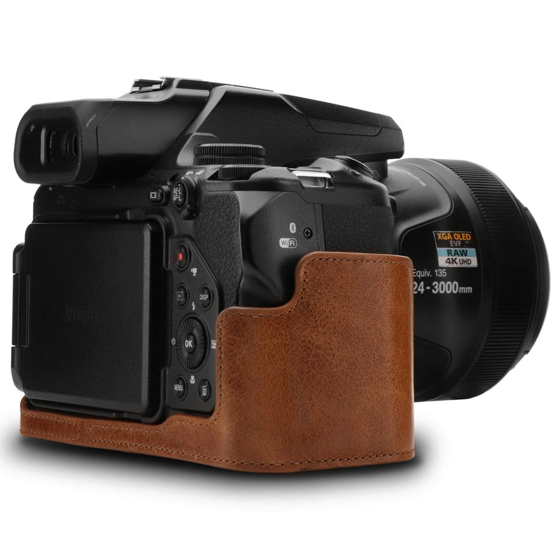 MegaGear Nikon Coolpix P1000 Ever Ready Leather Camera Half