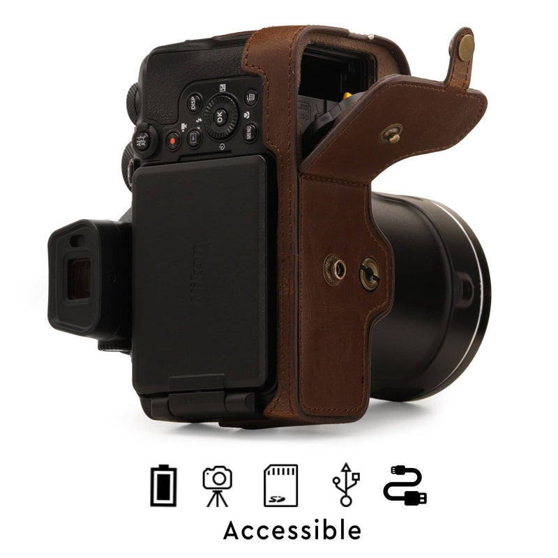MegaGear Nikon Coolpix P950 Ever Ready Leather Camera Case