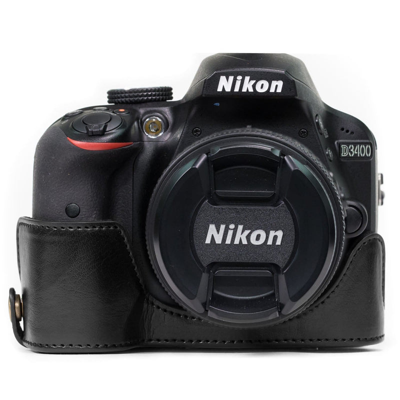 MegaGear Nikon D3400 (18-55) Ever Ready Leather Camera Case