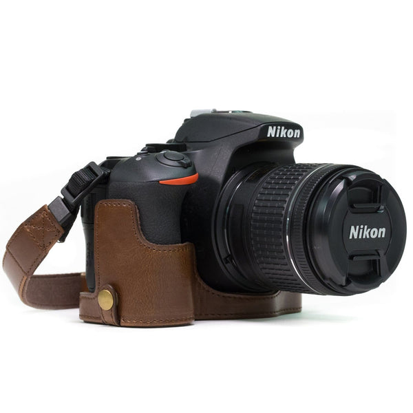 MegaGear Nikon D5600 D5500 Ever Ready Leather Camera Half