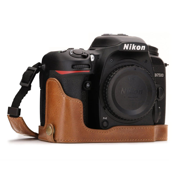 MegaGear Nikon D7500 Ever Ready Genuine Leather Camera Half