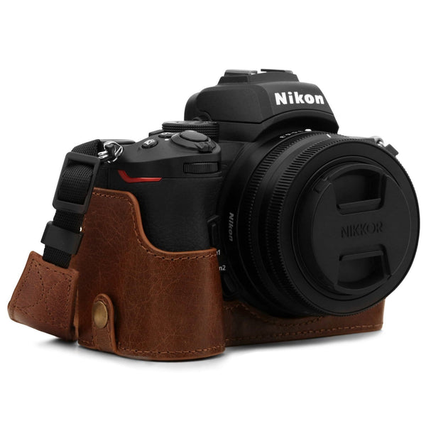 MegaGear Nikon Z50 Ever Ready Genuine Leather Camera Half