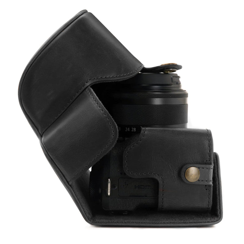 MegaGear Ever Ready Leather Camera Case compatible with