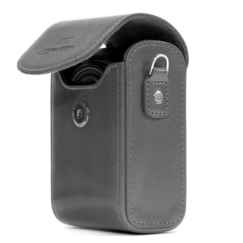 MegaGear Samsung WB350F Leather Camera Case with Strap