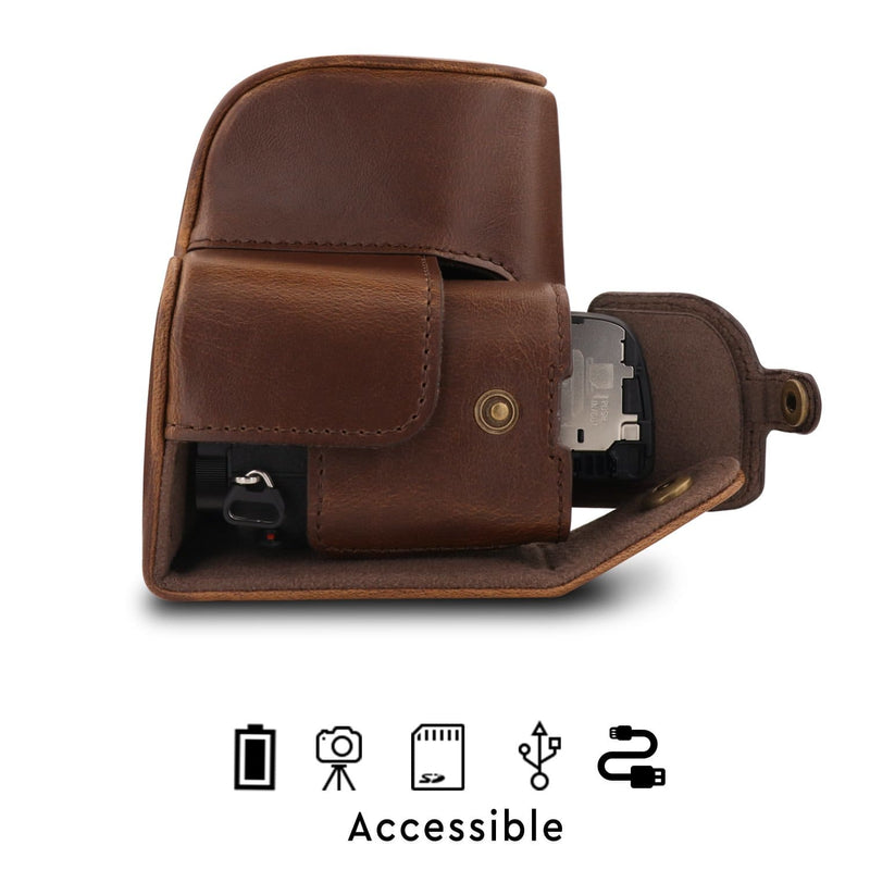 MegaGear Sony Alpha A6400 A6100 (16-50mm) Ever Ready Leather