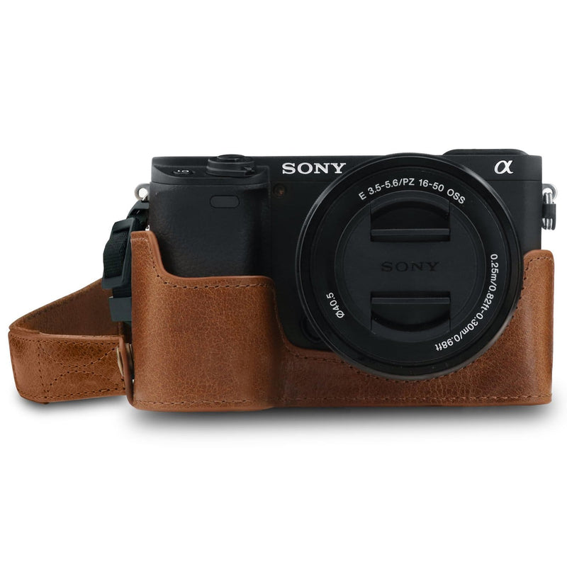 MegaGear Sony Alpha A6400 A6100 Ever Ready Genuine Leather