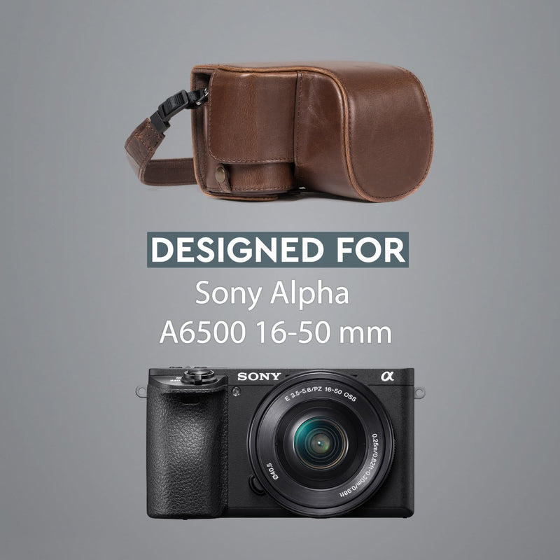 MegaGear Sony Alpha A6500 (16-50 mm) Ever Ready Leather