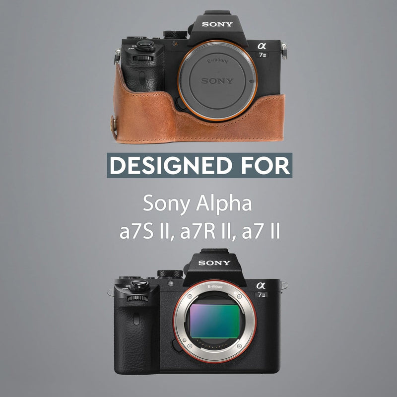 MegaGear Sony Alpha A7S II A7R A7 Ever Ready Genuine Leather