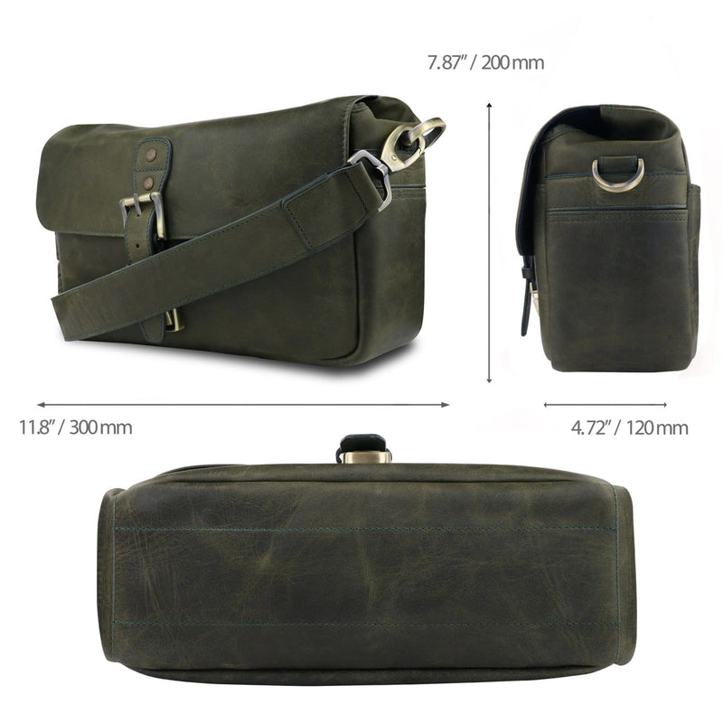 MegaGear Torres Genuine Leather Camera Messenger Bag for