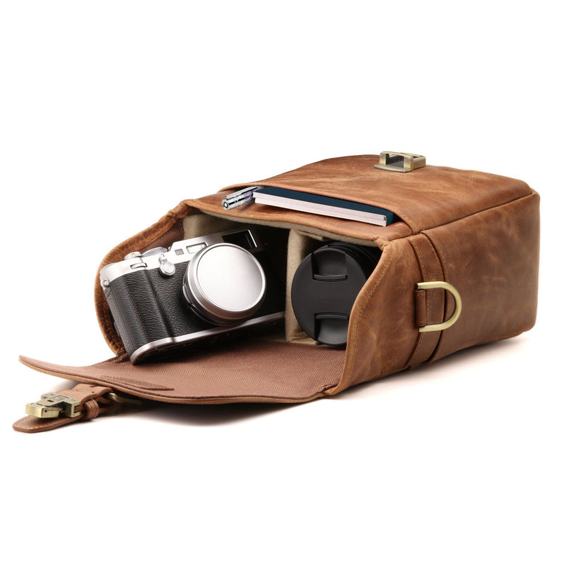 MegaGear Torres Mini Genuine Leather Camera Messenger Bag