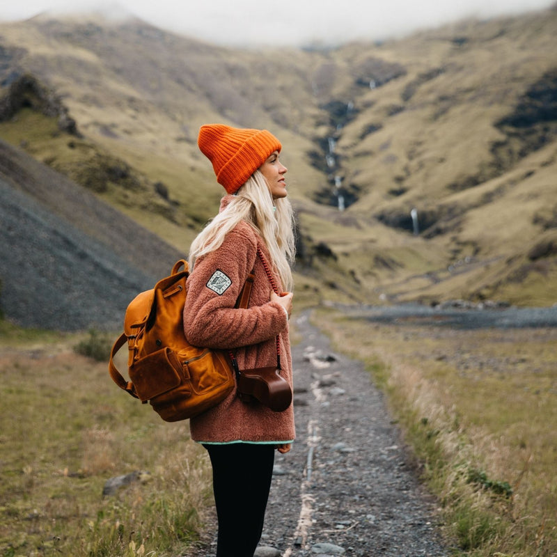 MegaGear Valley Handcrafted Leather Backpack