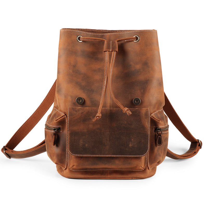 MegaGear Valley Handmade Real Leather Backpack