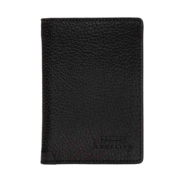 Otto Angelino Bifold Leather Wallet - Passport Style - ID