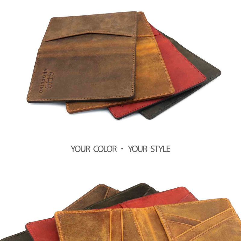 Otto Angelino Genuine Leather Bifold Card and Cash Wallet -