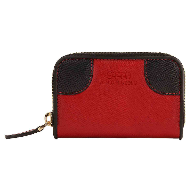 Otto Angelino Genuine Leather Coin and Credit Card Wallet -