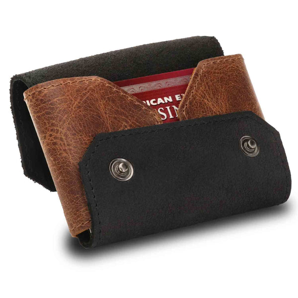 Otto Angelino Genuine Leather Credit and Business Card Case