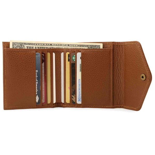 Otto Angelino Genuine Leather Envelope Style Wallet - Light
