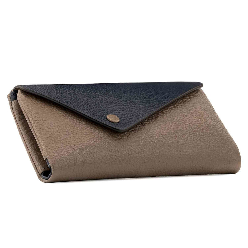 Otto Angelino Genuine Leather Envelope Wallet with Phone