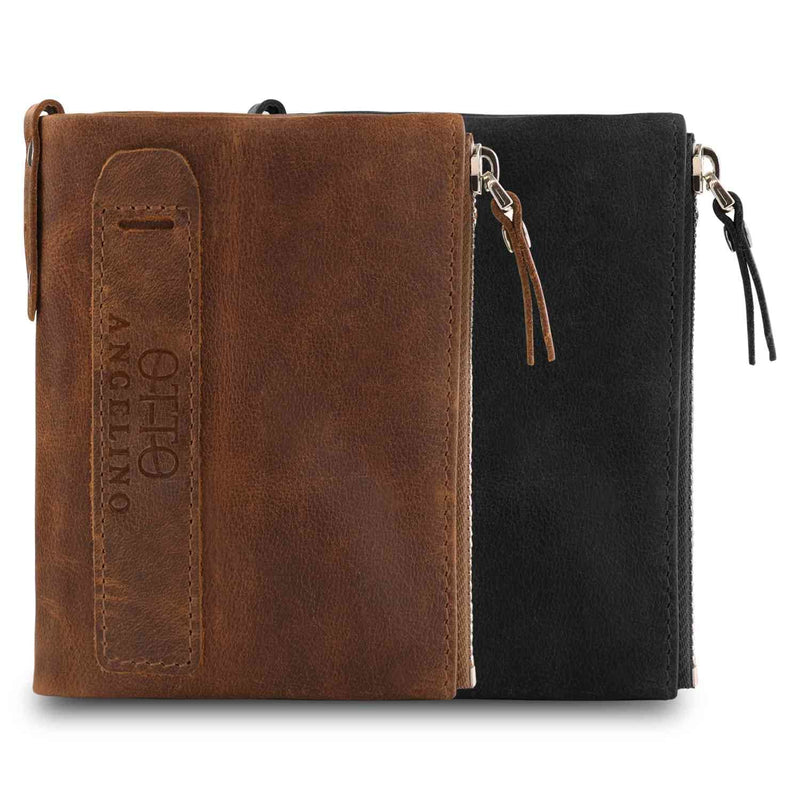 Otto Angelino Genuine Leather Multipurpose Bifold Wallet -