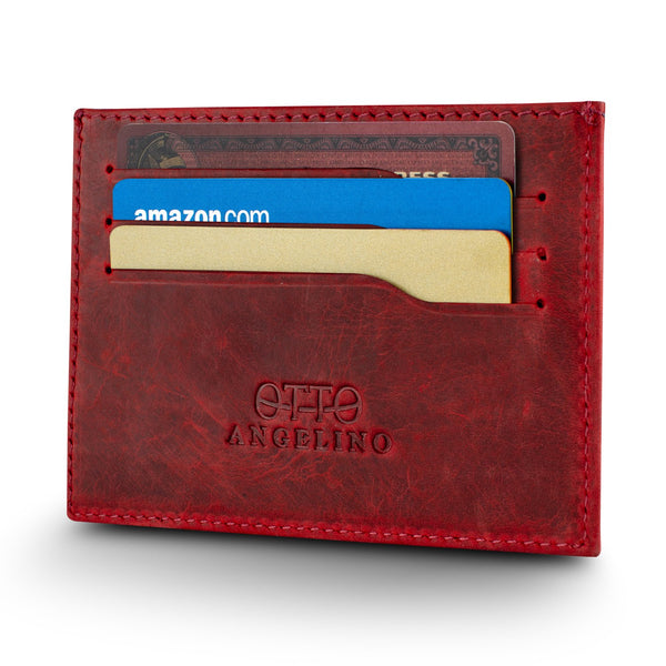 Otto Angelino Genuine Leather Ultra Slim Minimalist