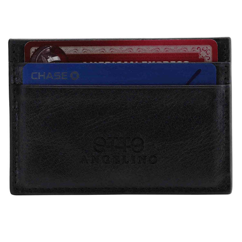 Otto Angelino Genuine Leather Wallet - Bank Cards Money