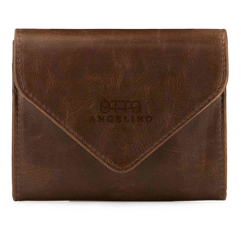 Otto Angelino Leather Coin and Credit Card Organizer - RFID