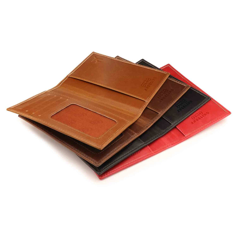 Otto Angelino Leather Passport Wallet - RFID Blocking -