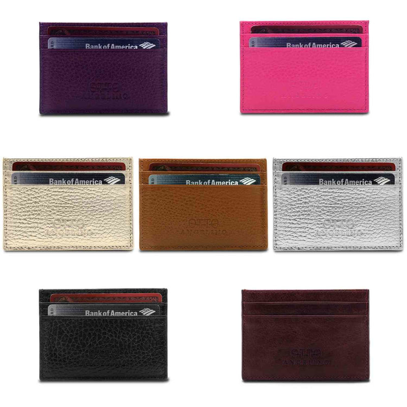 Otto Angelino Leather Wallet - Bank Cards Money Driver's