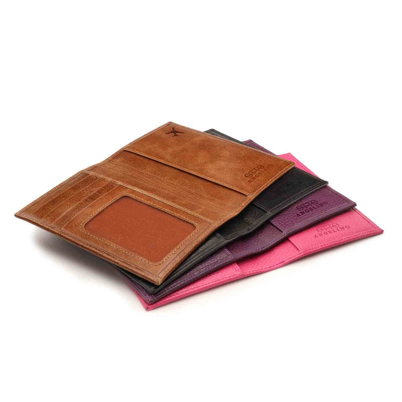 Otto Angelino Real Leather Passport Wallet - RFID Blocking