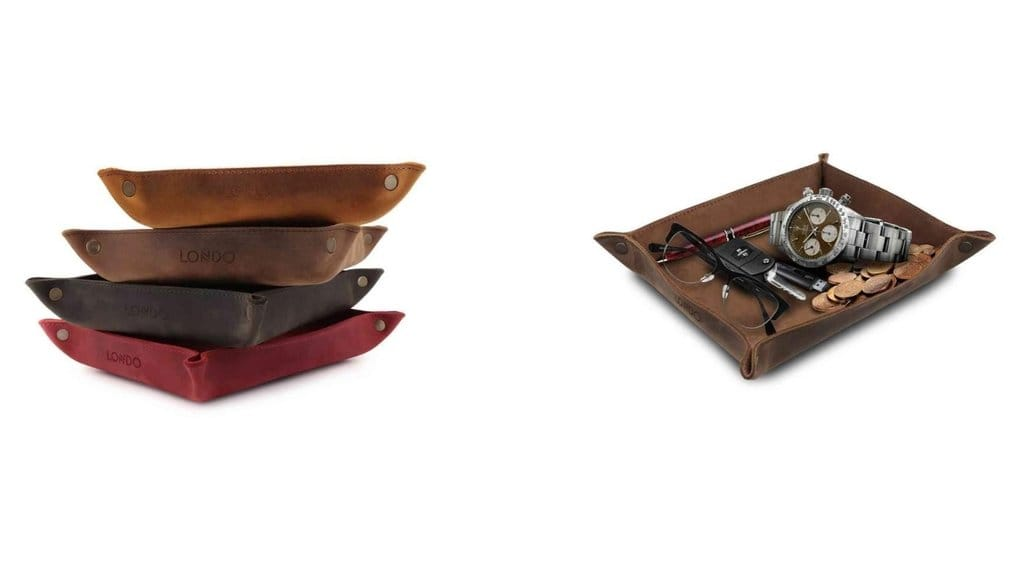 leather tray londo megagear leather desk organizer